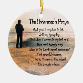 The Fishermans Prayer Ceramic Ornament