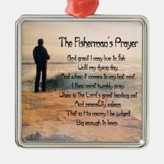 The Fishermans Prayer Metal Ornament
