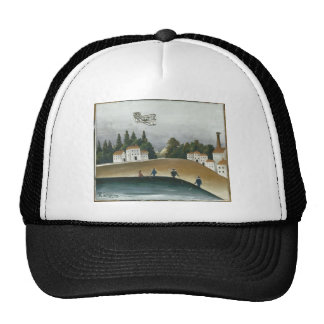 The Fishermen and the Biplane by Henri Rousseau Trucker Hat