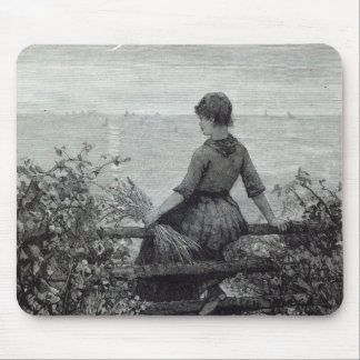 The Fisher's Lass, from 'Leisure Hour', 1888 Mouse Pad