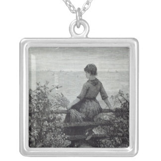 The Fisher's Lass, from 'Leisure Hour', 1888 Silver Plated Necklace