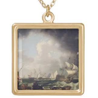 The Fishery, c.1764 (oil on canvas) Gold Plated Necklace