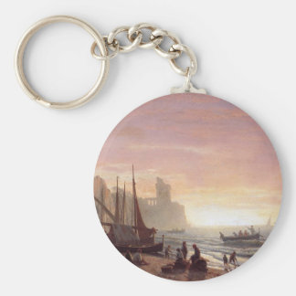 The fishing fleet - Albert Bierstadt Keychain