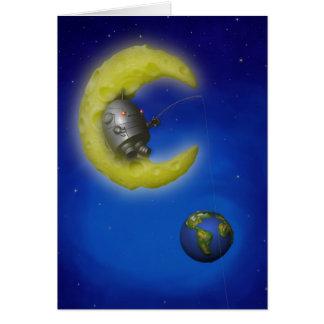 The Fishing Moon Card