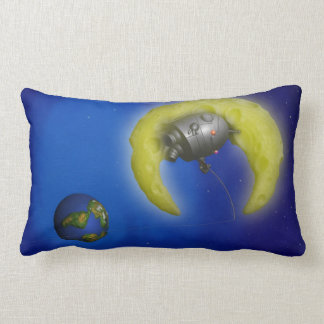 The Fishing Moon Throw Pillow