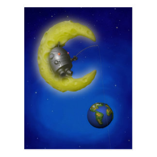 The Fishing Moon Postcard