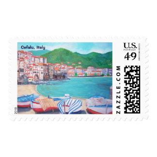 The fishing village of Cefalu Postage