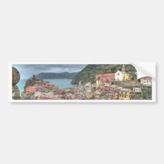 The fishing village of Vernazza, Cinque Terre, Ita Bumper Sticker