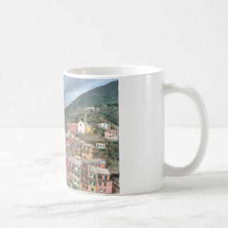 The fishing village of Vernazza, Cinque Terre, Ita Basic White Mug