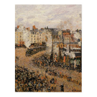 The Fishmarket, Dieppe by Camille Pissarro Postcard