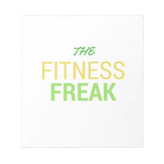 The Fitness Freak-Lemon Notepad