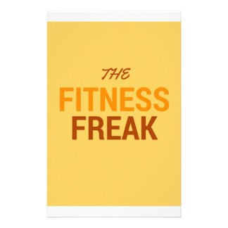 The Fitness Freak-Orange Stationery