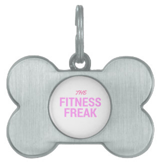 The Fitness Freak-Rose Pet Tag