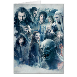 The Five Armies Character Graphic Greeting Cards