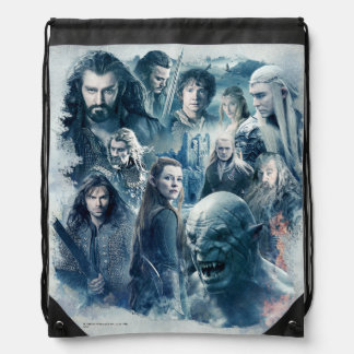 The Five Armies Character Graphic Drawstring Bags