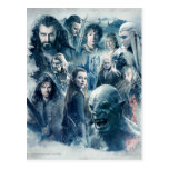 The Five Armies Character Graphic Postcards