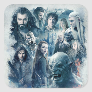 The Five Armies Character Graphic Square Sticker