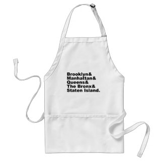The Five Boroughs of New York City Aprons