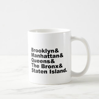 The Five Boroughs of New York City Coffee Mug