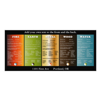 The five elements rack card