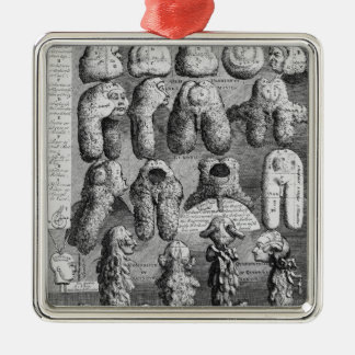 The Five Orders of Perriwigs, 1761 Metal Ornament