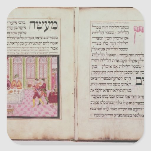 The five Rabbis of Bne Brak Square Stickers