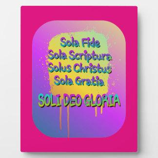 The Five Solas Plaque