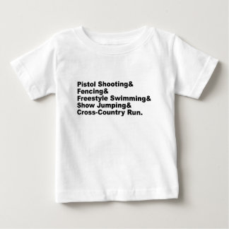 The Five Stages of a Pentathlon | Shooting Fencing Baby T-Shirt