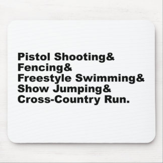The Five Stages of a Pentathlon | Shooting Fencing Mouse Pad