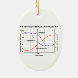 The Five Stages Of Demographic Transition Double-Sided Oval Ceramic Christmas Ornament