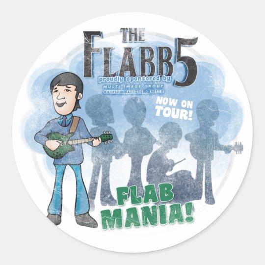 The Flabb Five Sticker Small