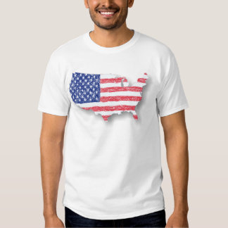 The Flag and the Map Tee Shirt