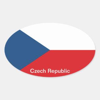 The Flag Czech Republic Oval Sticker