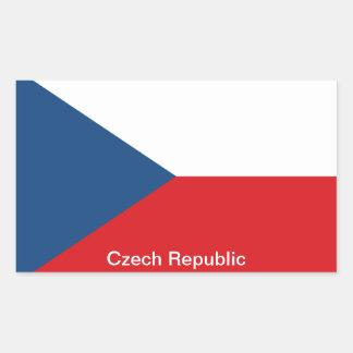 The Flag Czech Republic Rectangular Sticker