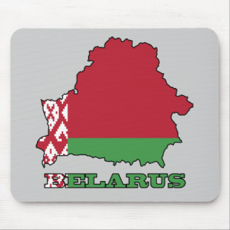 The Flag in Map of Belarus Mousepads