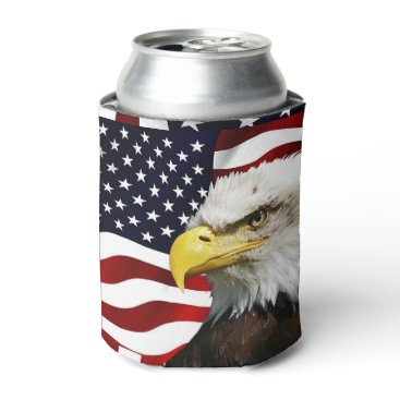 USA Themed The flag of america with eagle can cooler