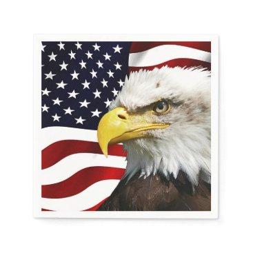 USA Themed The flag of america with eagle napkin