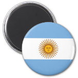 The Flag of Argentina 2 Inch Round Magnet