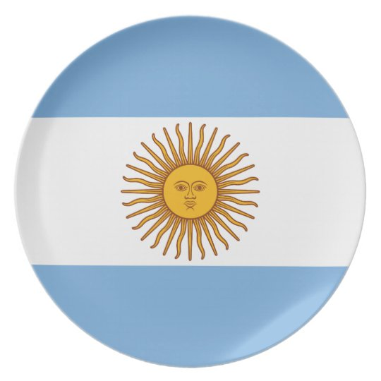 The Flag of Argentina Melamine Plate