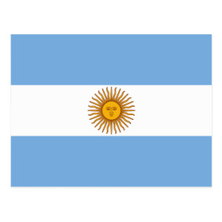 The Flag of Argentina Postcards
