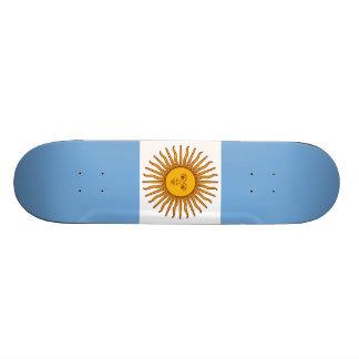 The Flag of Argentina Custom Skate Board