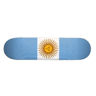 The Flag of Argentina Skateboard Deck