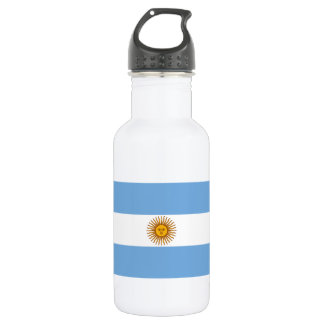 The Flag of Argentina Water Bottle