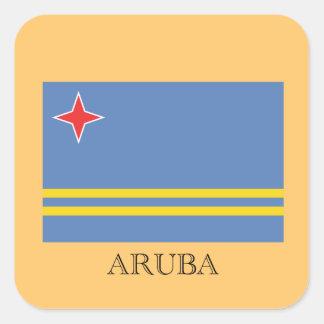 The Flag of Aruba Square Sticker