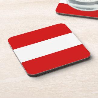 The Flag of Austria Beverage Coaster