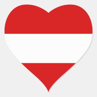 The Flag of Austria Heart Sticker