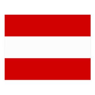 The Flag of Austria Postcard