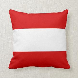 The Flag of Austria Throw Pillow