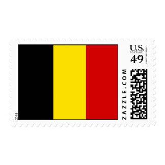 The Flag of Belgium Postage