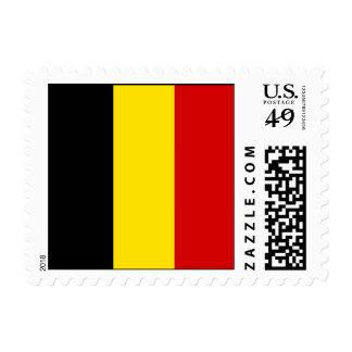 The Flag of Belgium Stamp